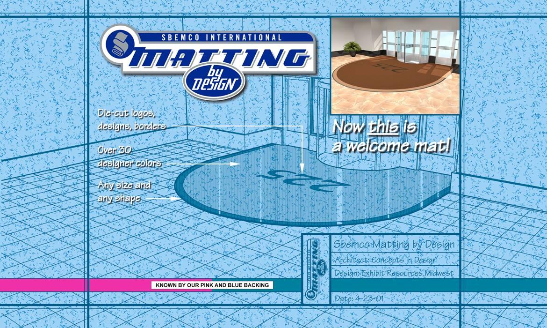 Sbemco International Matting 12' x 8' Graphic