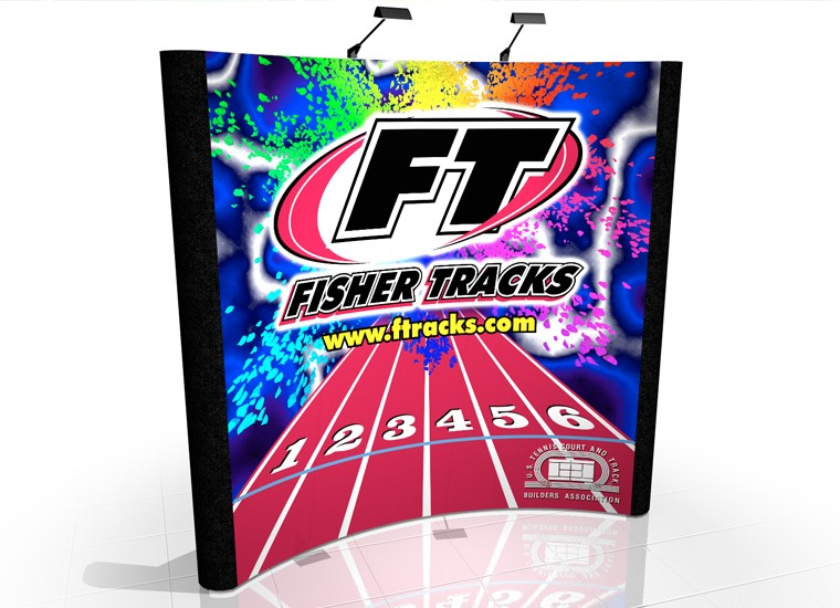 Fisher Tracks 8' x 8' Graphic