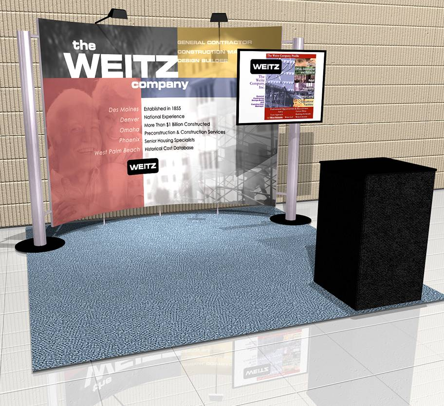 The Weitz Company 10' x 10' Inline Display