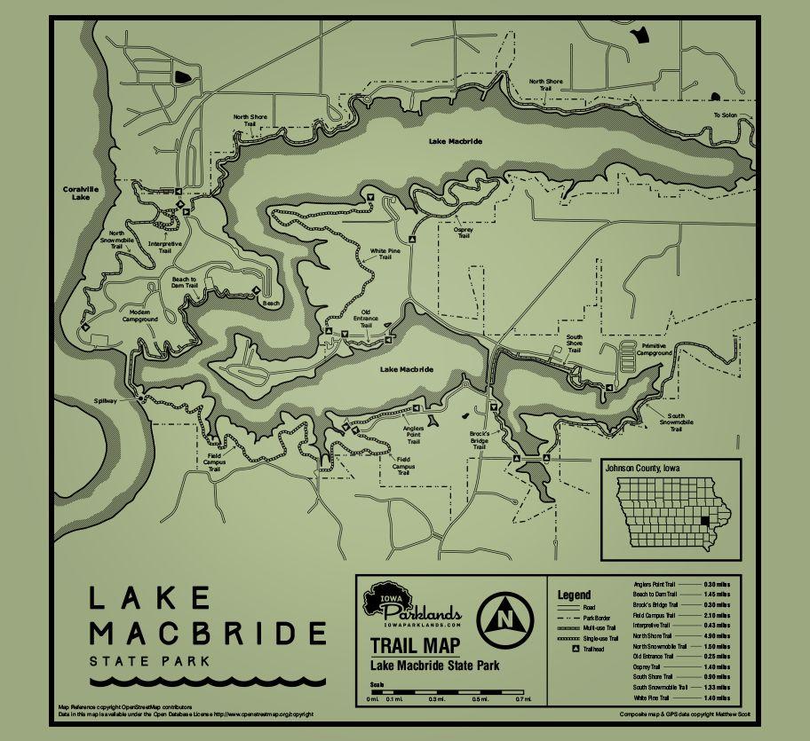 Lake MacBride Map