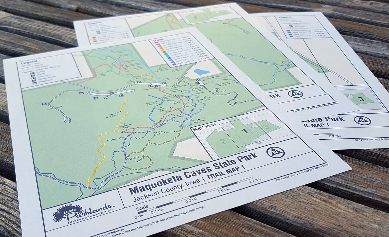 Maquoketa Caves Map