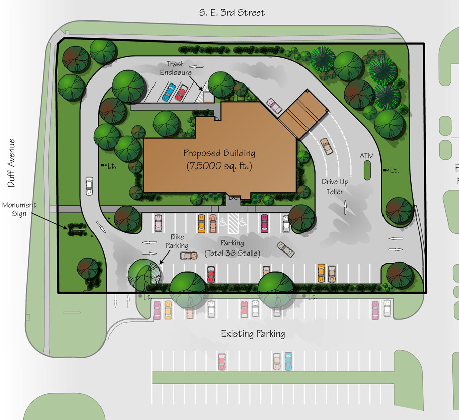 Bank Branch Site Plan